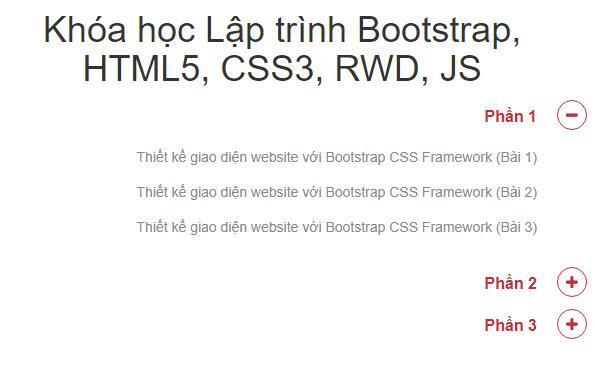 Hướng dẫn cách tạo Accordion hướng bên phải bằng Bootstrap