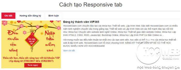 Hướng dẫn cách tạo Responsive tab bằng Bootstrap