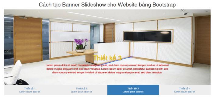 Cách tạo Banner Slideshow cho Website bằng Bootstrap
