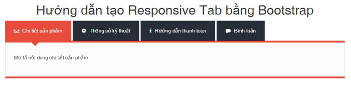 Cách tạo Tab bằng Bootstrap