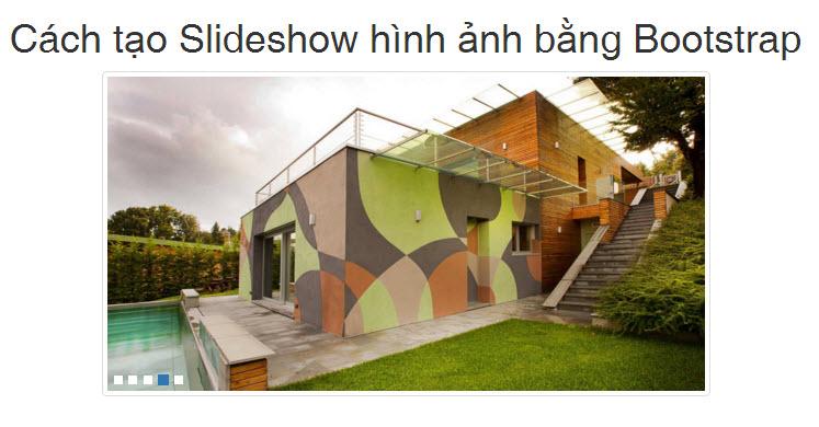 Cách tạo Slideshow hình ảnh bằng Bootstrap