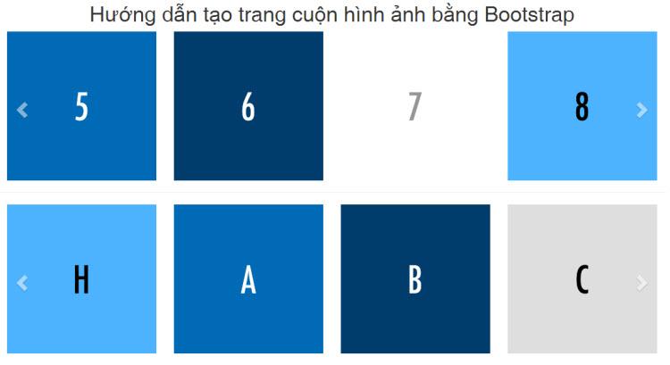 Hướng dẫn tạo trang cuộn hình ảnh bằng Bootstrap