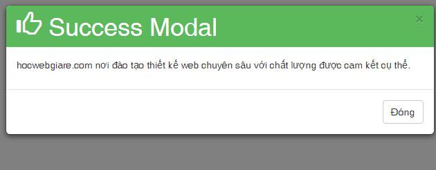 Hướng dẫn định dạng màu cho Modal box trong Bootstrap