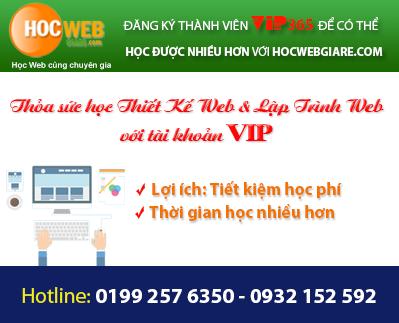 Học thiết kế web giá rẻ