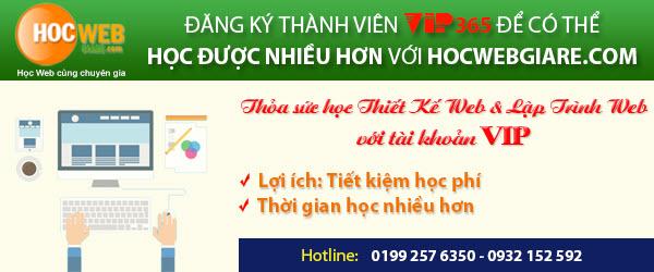 Học thiết kế web giá rẻ với tài khoản VIP365