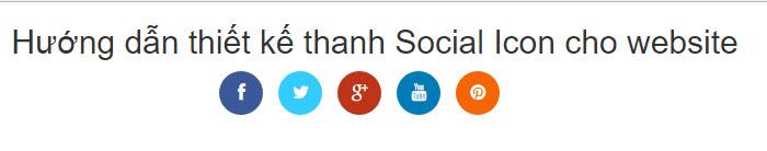 Hướng dẫn thiết kế thanh Social Icon cho website