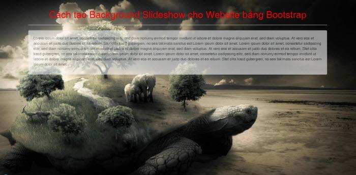 Cách tạo Background Slideshow cho Website bằng Bootstrap