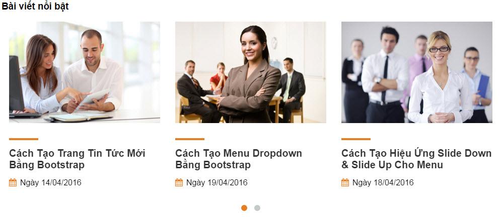 Cách tạo trang bài viết nổi bật bằng Bootstrap