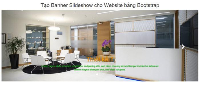 Hướng dẫn cách tạo Banner Slideshow cho Website bằng Bootstrap