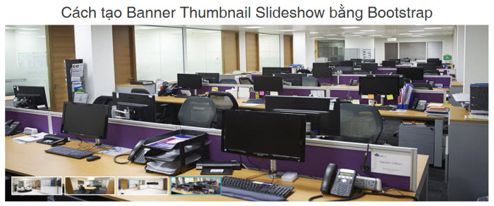 Cách tạo Banner Thumbnail Slideshow bằng Bootstrap