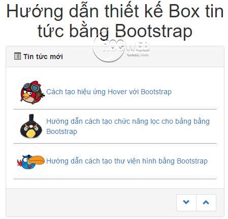 Hướng dẫn thiết kế Box tin tức bằng Bootstrap