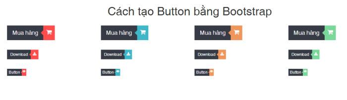 Cách tạo Button bằng Bootstrap