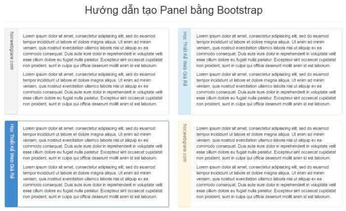 Hướng dẫn tạo Panel bằng Bootstrap