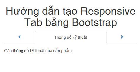Hướng dẫn tạo Responsive Tab bằng Bootstrap