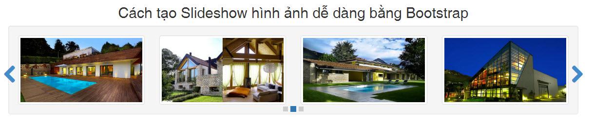 Cách tạo Slideshow hình ảnh dễ dàng bằng Bootstrap