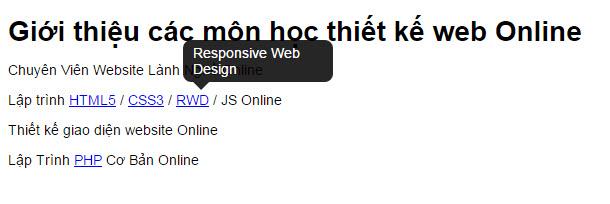 Tạo Tooltip bằng CSS3