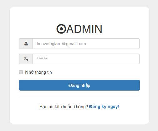 Hướng dẫn thiết kế trang đăng nhập bằng Bootstrap